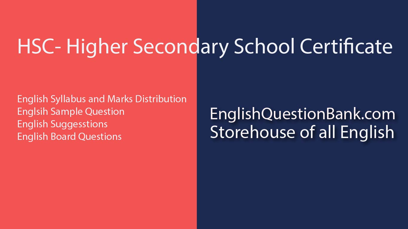 English suggestion for hsc 2019-English First Paper
