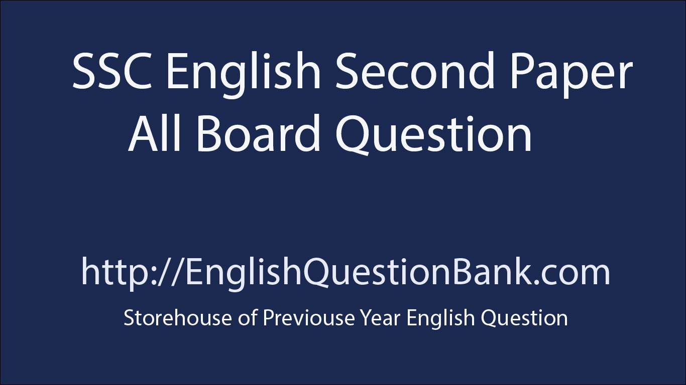 SSC English Second Paper Board Question 2018